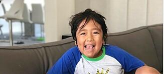 Ryan (8) tjener millioner på YouTube