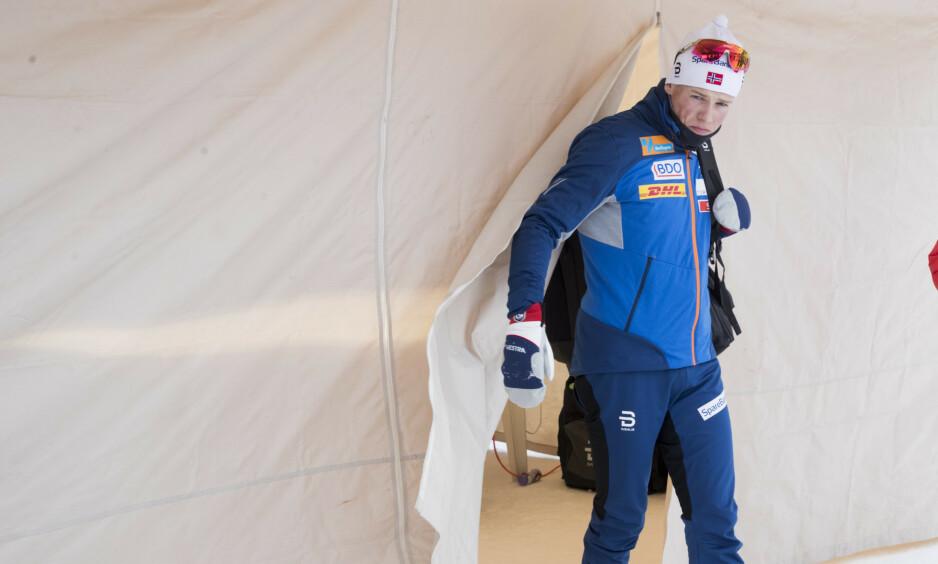 HELT OPPGITT: Johannes Høsflot Klæbo var skuffet etter den norske fiaskoen på 15 km fri i Toblach. Men denne gangen var det var alle TV-seerne som hadde det verst. Foto: Terje Pedersen / NTB scanpix