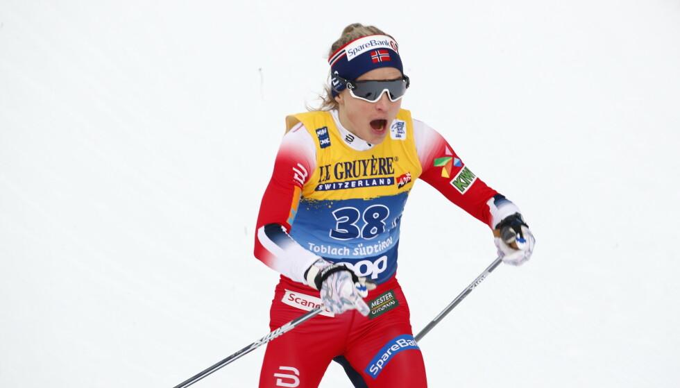 KNEPEN SEIER: Therese Johaug slo Østberg med 0,7 sekunder. Terje Pedersen / NTB Scanpix