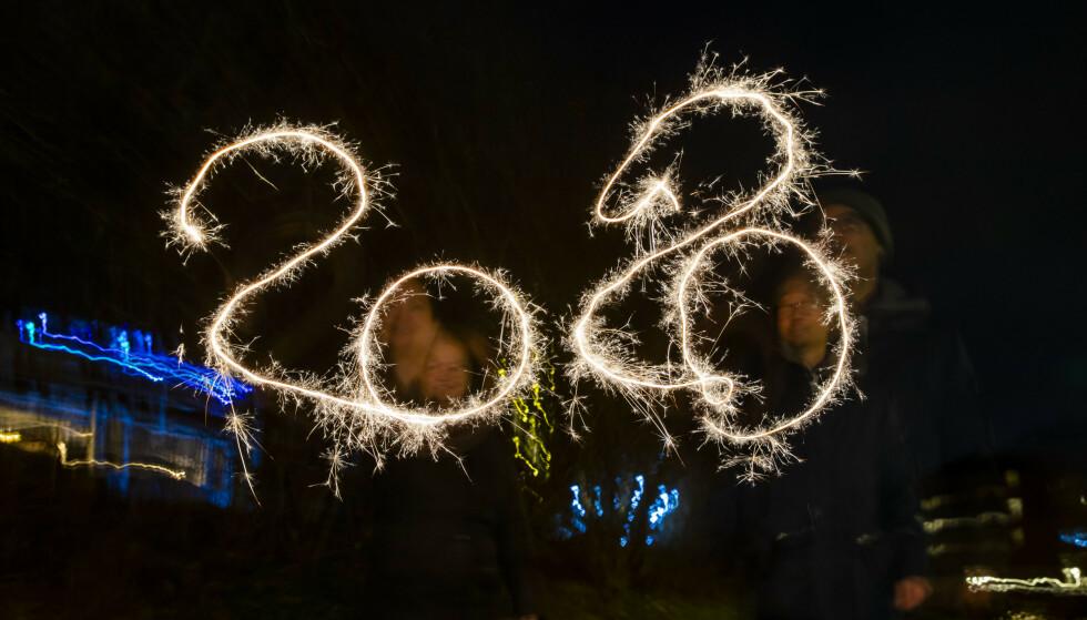 DEN OFFISIELLE FEIRINGEN: Overgangen til 2020 ble markert med fyrverkeri overalt, her i Oslo. Men rakettfesten fortsatte 1. januar mange steder, spesielt i Agder. Foto: Håkon Mosvold Larsen, NTB Scanpix.