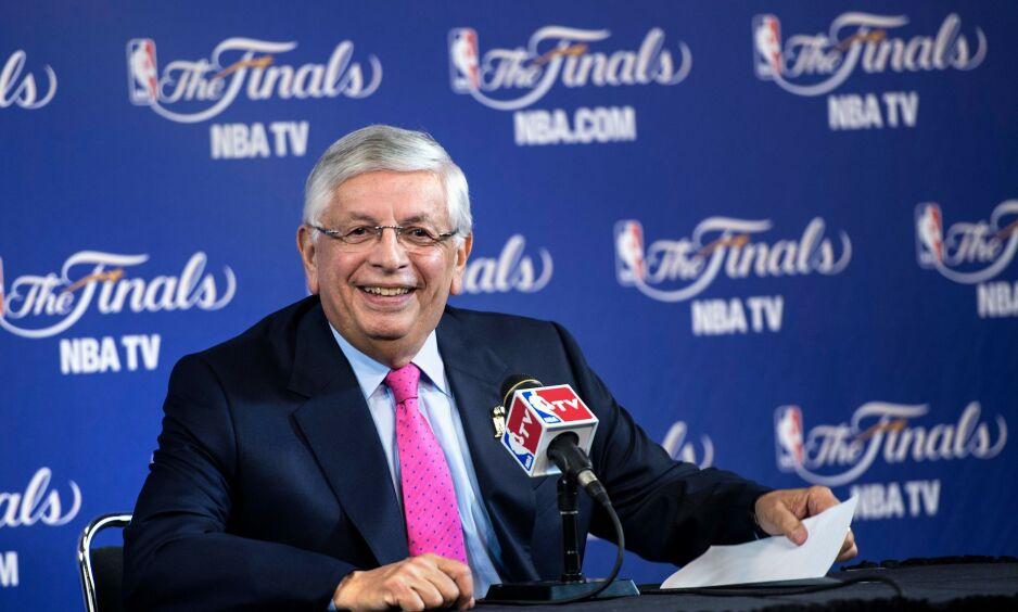 PROFIL: David Stern (77) gjorde basketball og NBA verdenskjent. Foto: Brendan SMIALOWSKI / AFP
