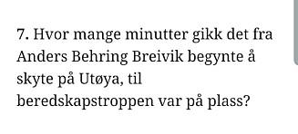Beklager etter Utøya-spørsmål