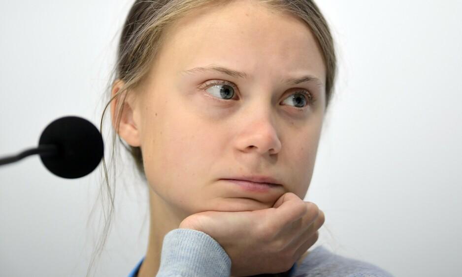 UT MOT NORGE: Greta Thunberg langer ut mot Norges oljeutbygging. Foto: AFP/NTB Scanpix