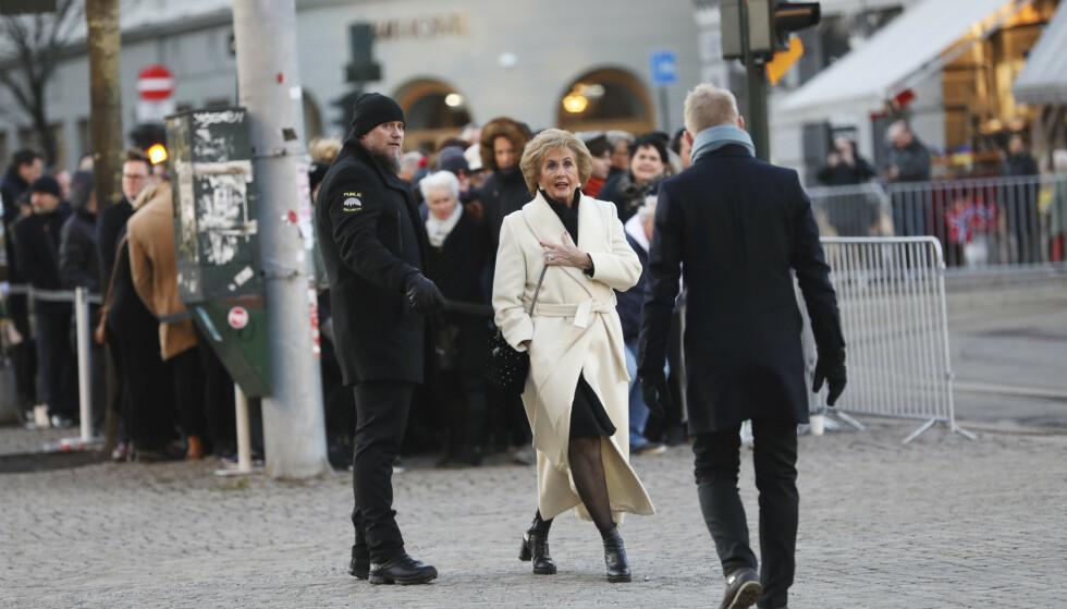 I SORG: Trude Drevland ankommer kirka for å ta farvel med Ari Behn. Foto: Christian Roth Christensen/ Dagbladet