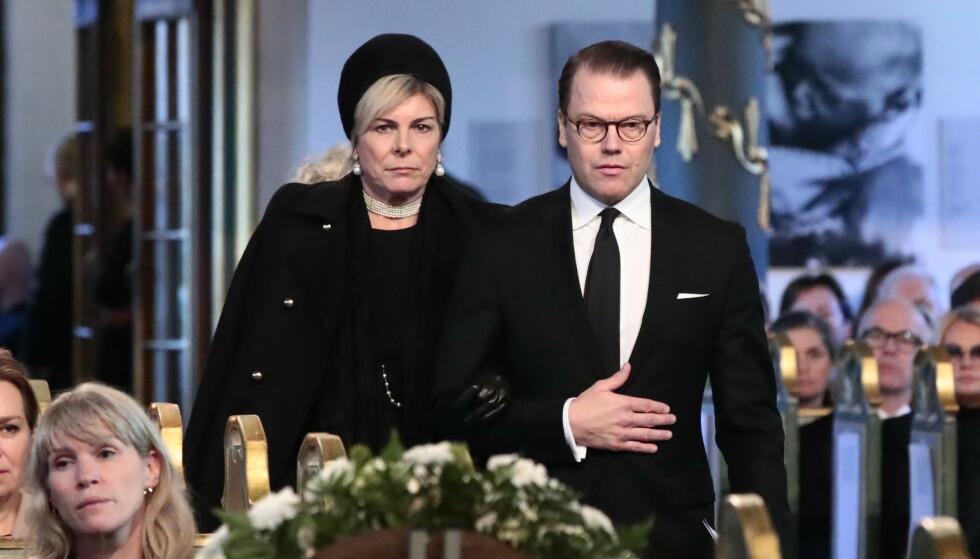 UTENLANDSBESØK: Petra Laurentien Brinkhorst av Nederland og prins Daniel av Sverige under bisettelsen av Ari Behn i Oslo domkirke. Foto: NTB scanpix