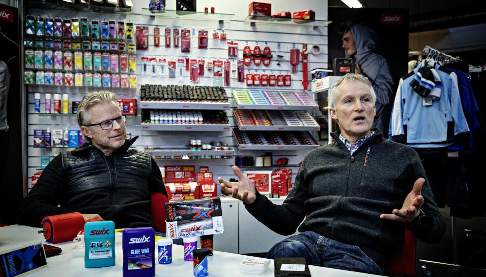 TAR GREP: Konstituert adm. dir. i Swix-eieren Brav, og styremedlem Vegard Ulvang, forteller om hva de gjør for å føre Swix inn i en fluorfri smøringsframtid. Foto: Nina Hansen