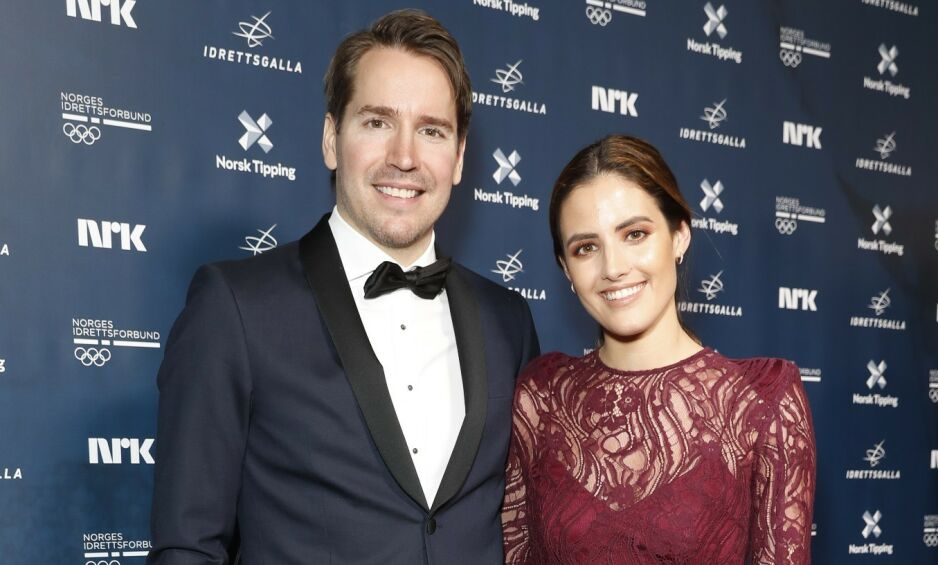 BARNEFRI: Emil Hegle Svendsen og Samantha Skogrand hadde en hel kveld barnefri for første gang lørdag. Foto: Andreas Fadum / Se og Hør