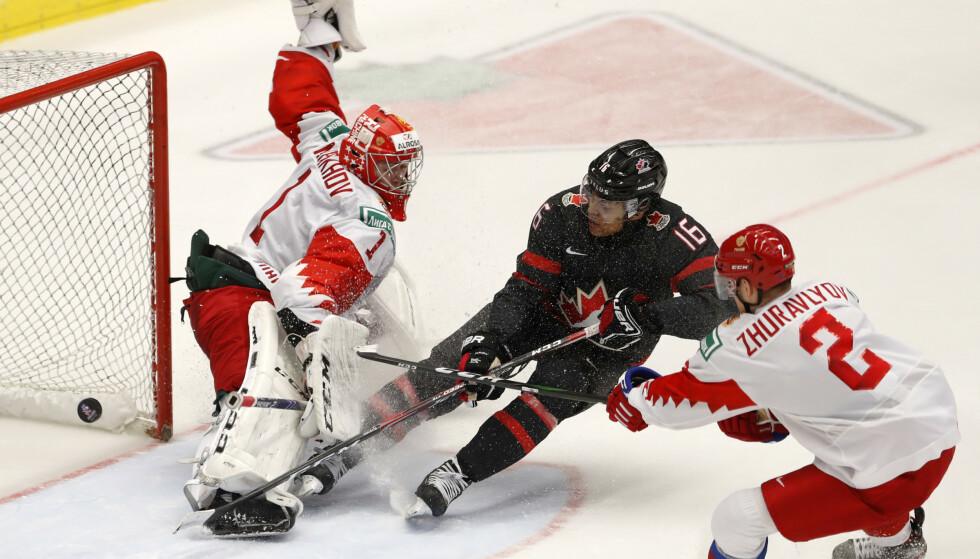 MATCHVINNER: Canadas Akil Thomas scorer vinnermålet Foto: NTB Scanpx