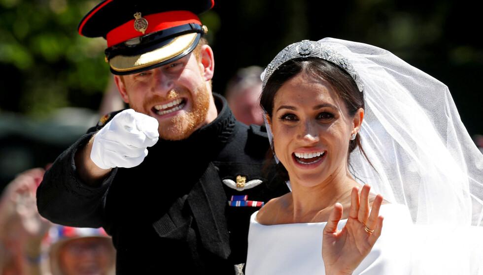 EKTEPAR: Prins Harry og hertuginne Meghan giftet seg i mai 2018. Foto: NTB Scanpix