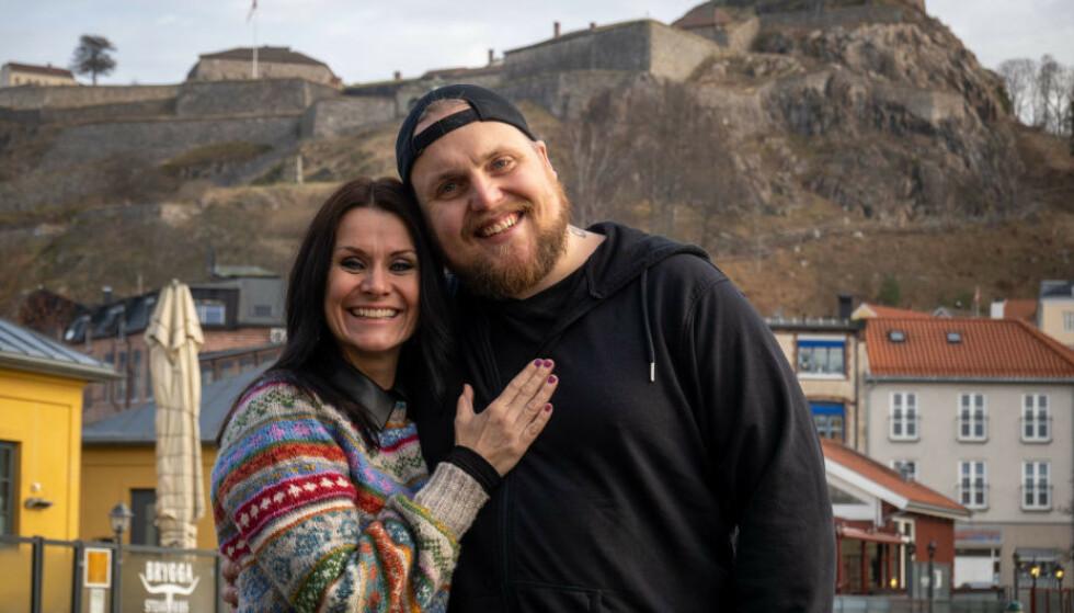 NYE MAKKERE: Katrine Moholt (45) og Stian Thorbjørnsen blir å se sammen på TV 2 til sommeren. Foto: TV 2