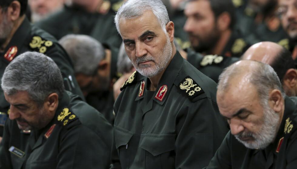 DREPT: General Qasem Soleimani fotografert i september 2016. Han ble drept i et amerikansk droneangrep i Iraks hovedstad Bagdad. Foto: AP/ NTB scanpix