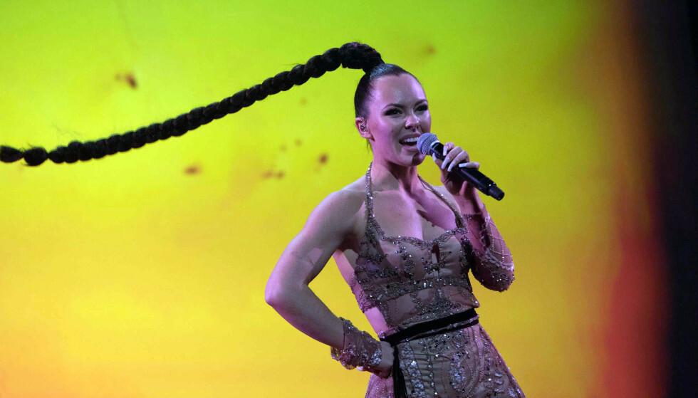 VINNER: Artisten Raylee vant årets første delfinale i Melodi Grand Prix med låten «Wild». Foto: NRK