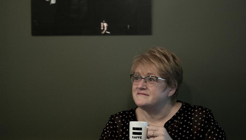 HOLDNINGSENDRING: Fra kaffebaren til = Oslo i Akersgata håper Venstre-lederen at storsamfunnet skal se annerledes på rusavhengige som følge av Venstres innsats i regjering. Foto: Bjørn Langsem / Dagbladet