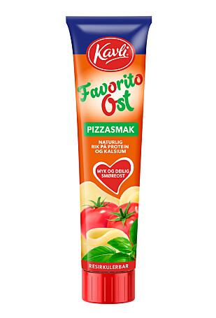 NYHET: Kavli lanserer ost med smak av pizza margherita i februar. Foto: Kavli