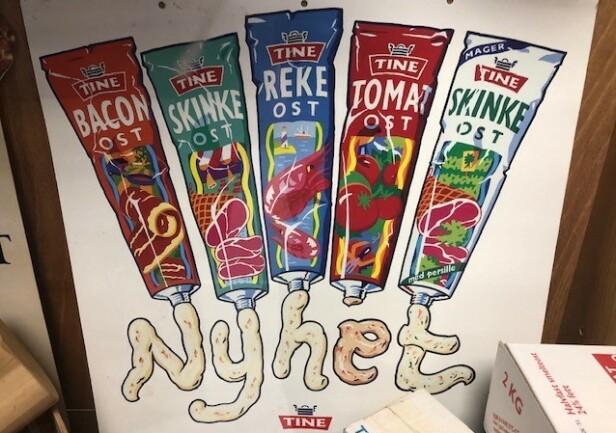 HUSKER DU? På nittitallet lanserte Tine smøreost på tube i fem smaker. De fikk bli på markedet i fem-seks år. Foto: Tine