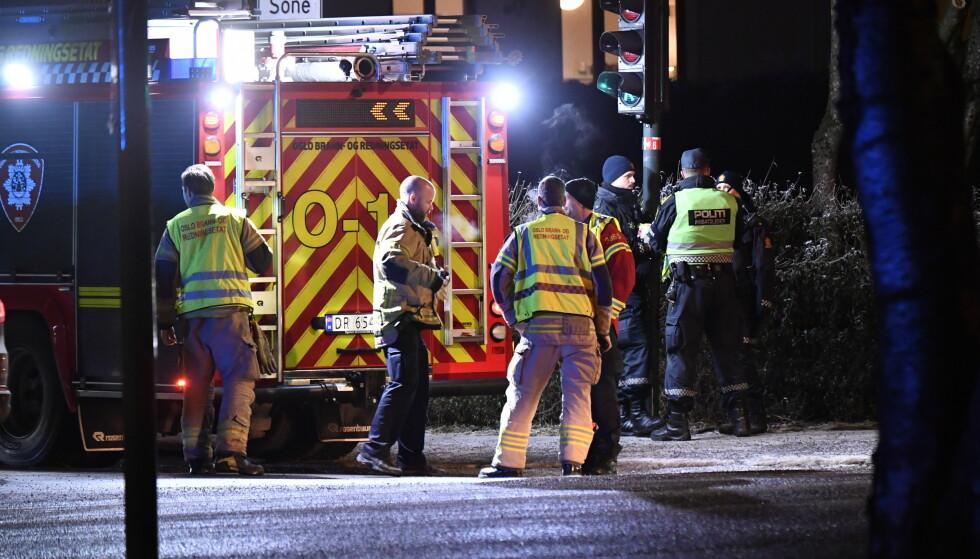 OMKOM: Et barn i barnehagealder omkom i en trafikkulykke på Slemdal i Oslo mandag ettermiddag. Foto: Lars Eivind Bones / Dagbladet