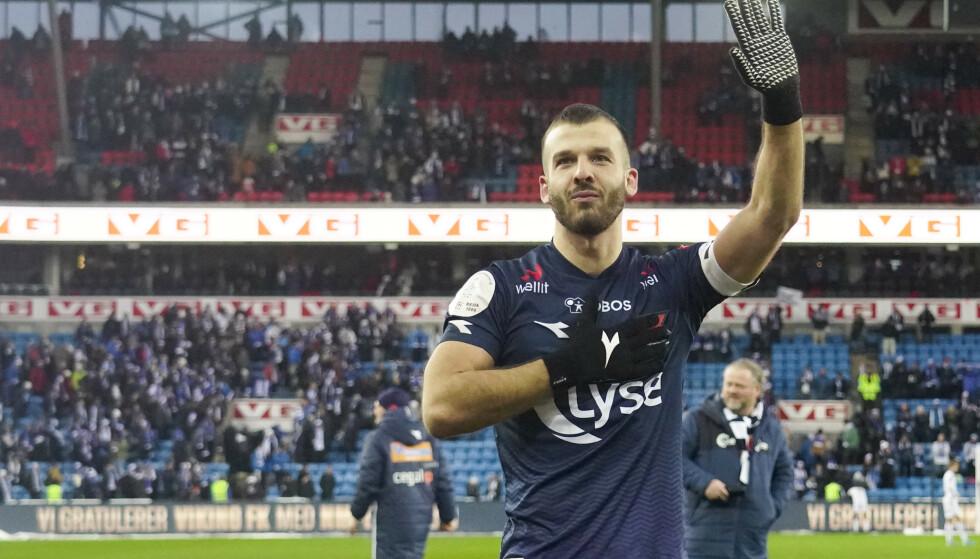 HELTEN: Zlatko Tripic scoret målet da Viking vant cupfinalen mot FK Haugeusnd i 2019. Foto: NTB/Scanpix.