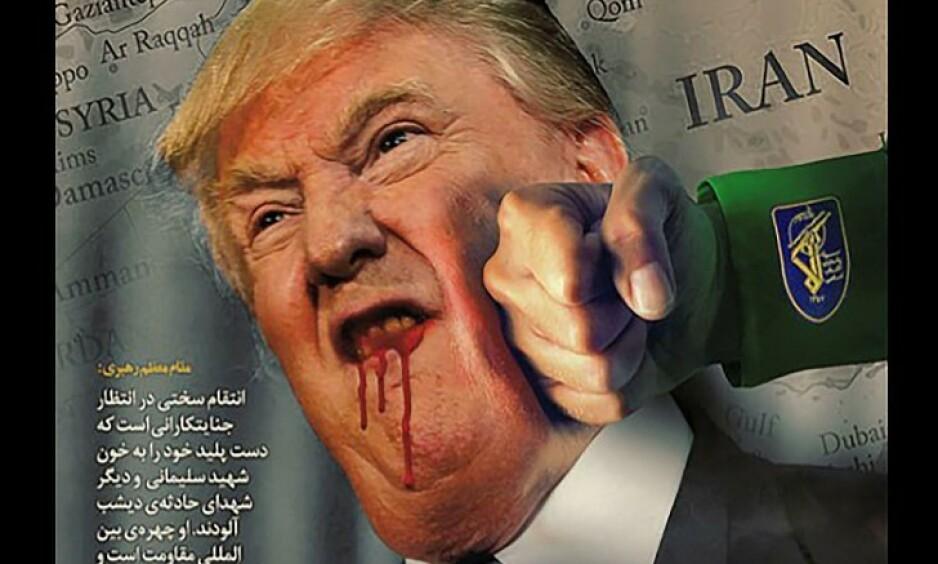 SLAG I TRYNET: En amerikansk statlig nettside ble hacket og erstattet med blant annet dette bildet like etter at USAs president beordret sine militære styrker til å likvidere den iranske generalen Qasem Soleimani. Foto: FDLP