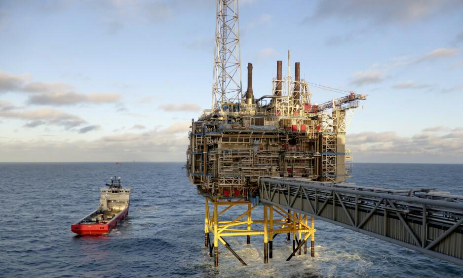 SLEIPNER VERDENS FØRSTE: Norge har lagret CO2 siden 1996. Det startet med Sleipner-prosjektet i Nordsjøen, som var det første lagringsprosjektet i storskala, og samtidig verdens første fullstendige offshore CCS-anlegg, skriver innsenderen. Foto: Nerijus Adomaitis / Reuters / NTB Scanpix