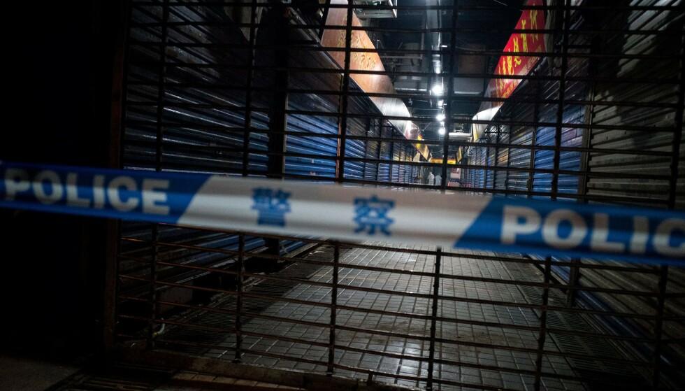 SPERRET AV: Helsemyndighetene mistenkte først at viruset oppsto på et marked i Wuhan i Kina. Foto: AFP/NTB Scanpix