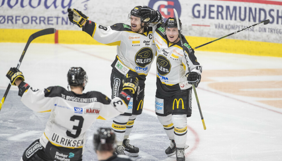 JUBEL: Ludvig Hoff og Stavanger kunne juble for storseier torsdag. Foto: Terje Pedersen / NTB scanpix