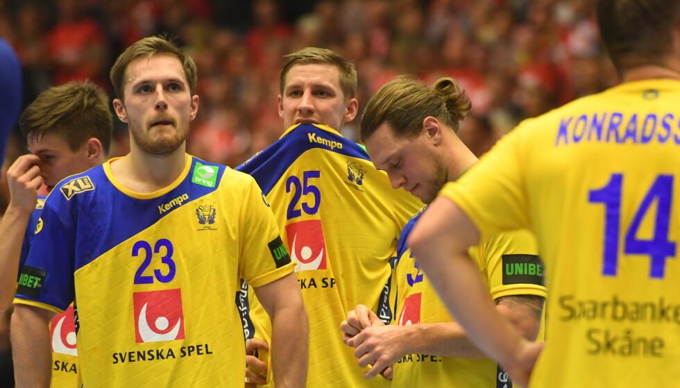 I TRØBBEL: Fire svenske landslagsspillere måtte beklage bytur. Foto: NTB Scanpix