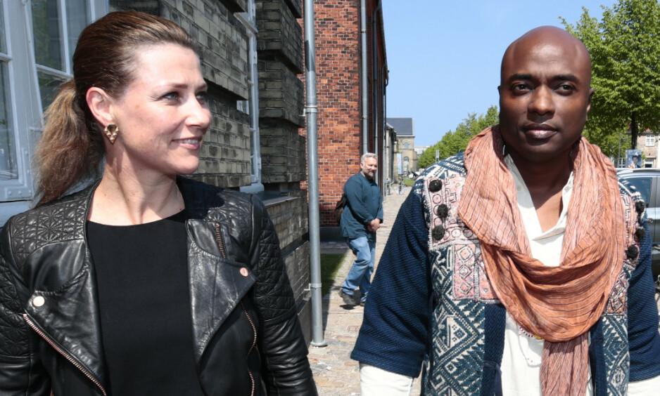 INNRØMMER FEIL: Durek Verrett (45) forklarer at han får rettleding av prinsesse Märtha Louise. Her under workshop i København. Foto: NTB scanpix