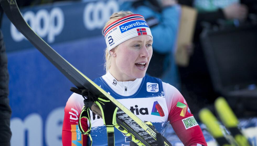 KUNNE JUBLE: Ragnhild Haga slo til med en femteplass i dagens 10 kilometer. Foto: Terje Pedersen / NTB Scanpix