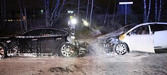 To biler i brann i Oslo