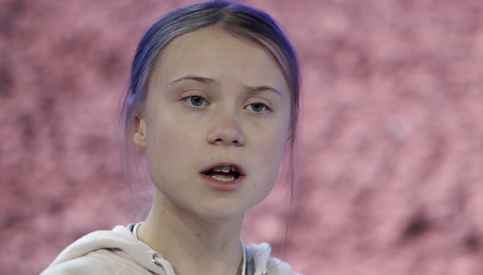 KLIMASTREIKERNE: Greta Thunberg var 16 år da hun begynte sin skolestreik for klimaet. Foto: AP Photo/Michael Probst