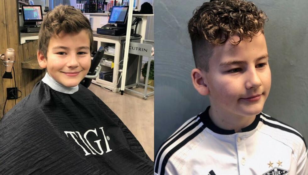 PERMANENT: Jonas (10) sier det var fotballspillere og influensere som inspirerte han til å ta permanent. Foto: Vikhamar Hårsenter