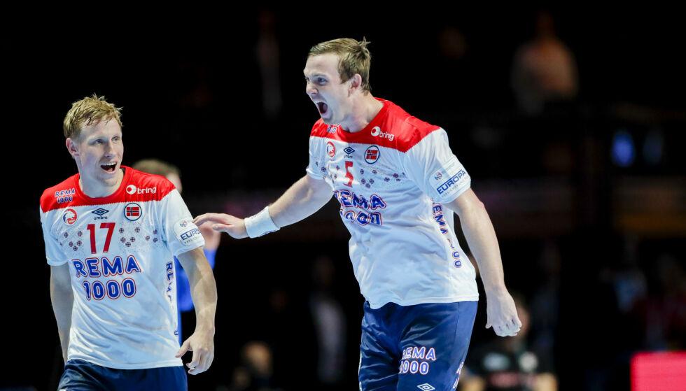 BLANT DE BESTE: Sander Sagosen og Magnus Jøndal er med blant de beste av de beste i håndball-EM.. Foto: Vidar Ruud / NTB scanpix