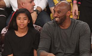 OMKOM: Kobe Bryant and datteren Gianna på en kamp i november i fjor. Foto: SplashNews
