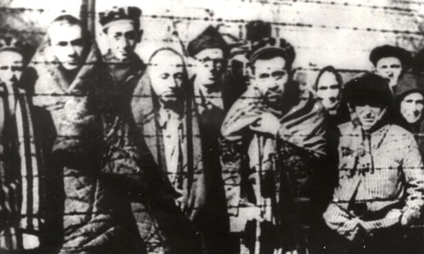 OVERLEVENDE: Da sovjeterne ankom leiren 27. januar 1945, fant de noen hundre overlevende. Foto: Yad Vashem Archives / Reuters / NTB Scanpix