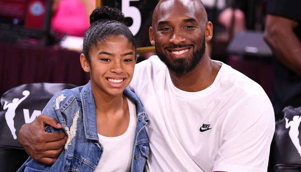 OMKOM: Kobe Bryant og dattera Gianna. Foto: NTB Scanpix