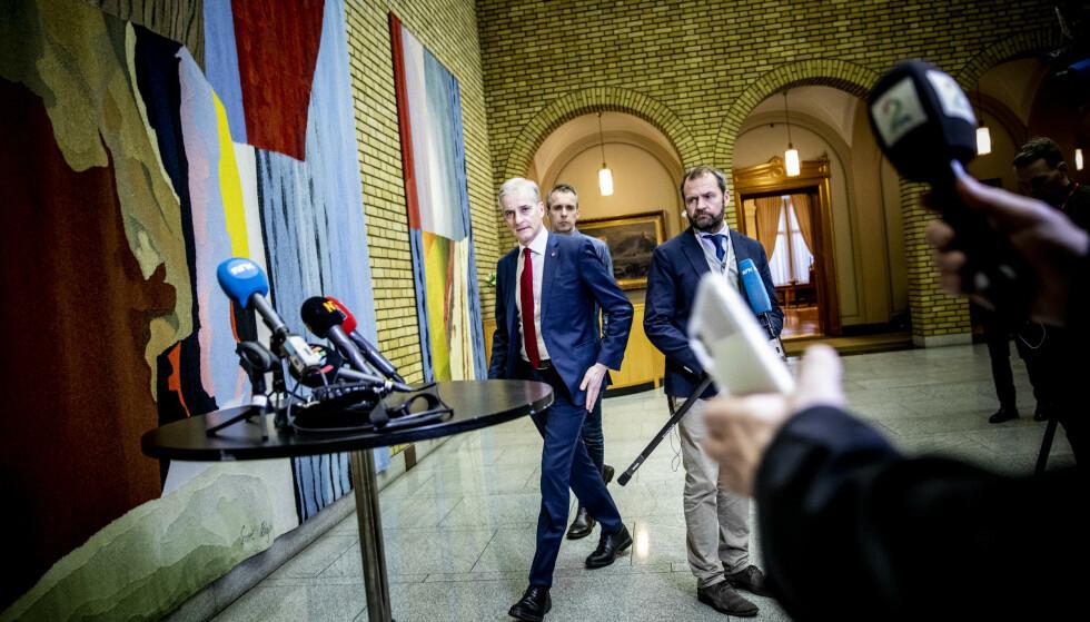 INGEN AVKLARING: Mange blikk er rettet mot Ap-leder Jonas Gahr Støre, men han har ingen klimaløfter å komme med. Foto: Christian Roth Christensen