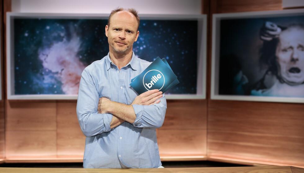 FORRIGE JOBB: Harald Eia har vært programleder for «Brille» på TVNorge siden 2013. Nå har han byttet arbeidsgiver. Foto: Martin Østby / TVNorge