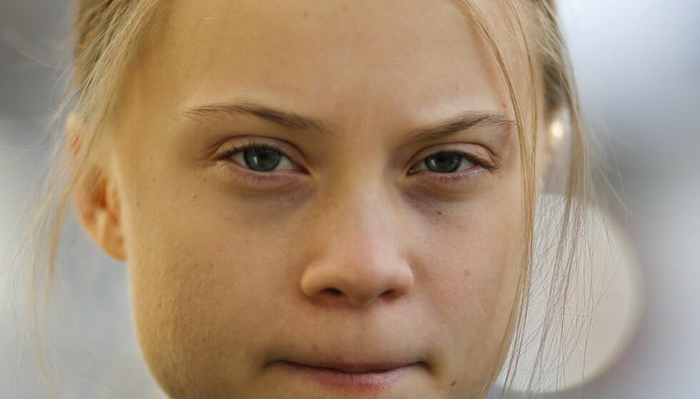 TAR GREP: Greta Thunberg registrerer navnet sitt og slagordet «Fridays For Future» som varemerke for å unngå misbruk og forfalskning av navnet sitt. Foto: Scanpix
