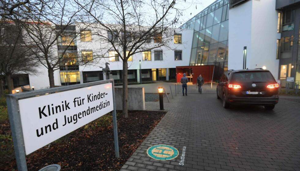 BARNEKLINIKK: Det var her, på Universitetssykehuset i Ulms barne- og ungdomsklinikk, at babyene ble forgiftet. Foto: Ralf Zwiebler / DPA / AFP / NTB Scanpix