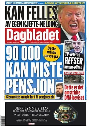 OPPSLAG: Dagbladet, 30. januar 2020.