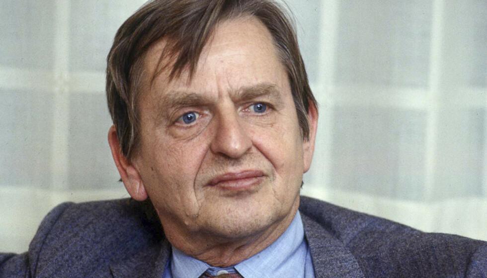 BLE DREPT: Statsminister Olof Palme ble skutt på åpen gate i Stockholm i 1986. Her er han fotografert i 1984. Foto: Tobbe Gustavsson / AFP / NTB scanpix