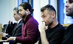 SAKSØKT: Advokat Halvard Helle (f.v.), Strawberry-forlegger Magnus Rønningen, Petter Northug og forfatter Jonas Forsang. Foto: Nina Hansen / Dagbladet