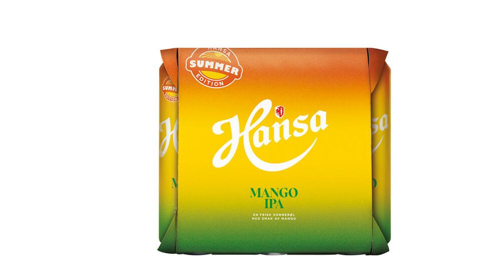 SUKSESS: Hansas Mango IPA fløy ut av butikkhyllene i fjor. Nå er ølet tilbake - både i butikk og på tappekran. Foto: Hansa Borg Bryggerier