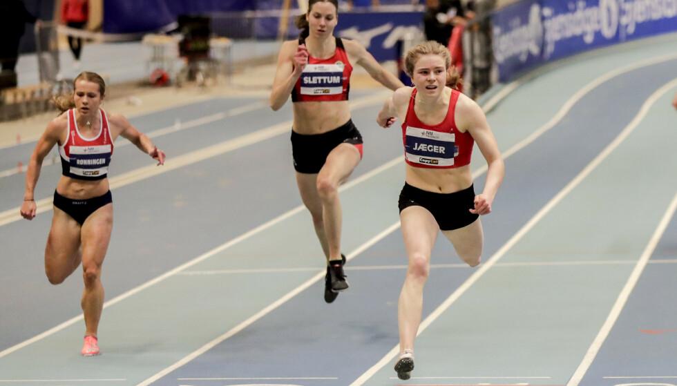 PARKERTE KONKURRENTENE: Henriette Jæger (t.h) er et av Norges største idrettstalenter. DFoto: NTB Scanpix
