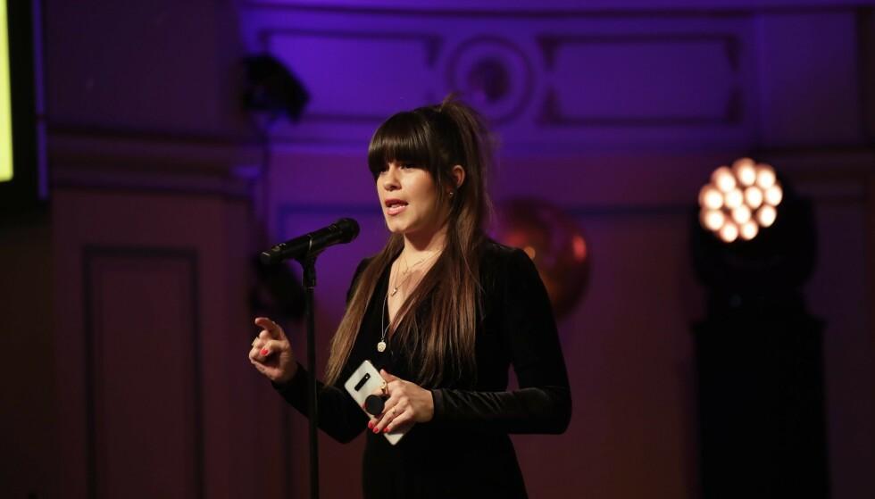 SVARER PÅ KRITIKKEN: Både under talen og i etterkant av prisutdelinga under Vixen Awards raste toppblogger Kristin Gjelsvik mot TV 2. Nå svarer nyhetskanalen på kritikken. Foto: NTB Scanpix