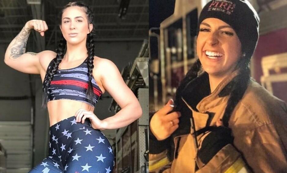 INSTAGRAM: Presley Pritchard (27) er både personlig trener og brannkonstabel. Foto: Instagram