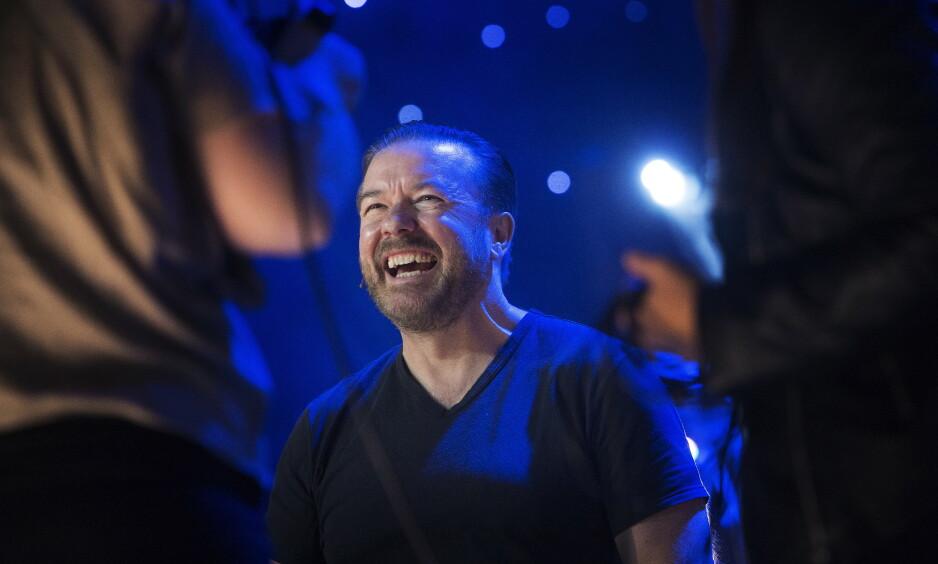 OPPTRÅDTE: Lørdag opptrådte britiske Ricky Gervais i Oslo spektrum. Det var fotoforbud under showet. Dette bildet er tatt ved en tidligere anledning. Foto: Frank Karlsen / Dagbladet