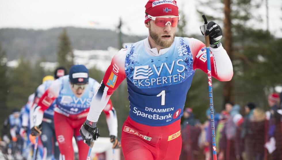 MOTGANG: Martin Johnsrud Sundby, her under 30 km klassisk på ski på Konnerud, snakker om motgangen. Foto: Terje Pedersen / NTB scanpix