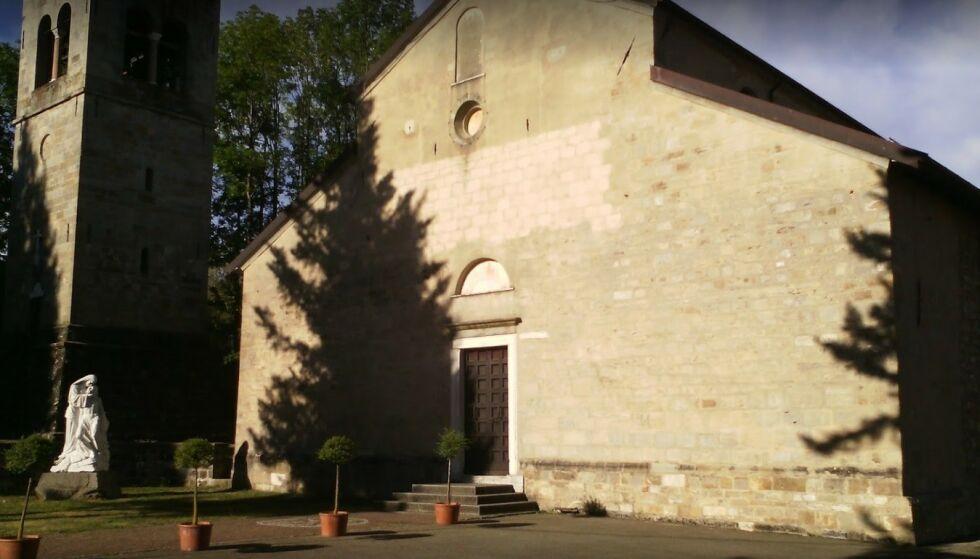 Kirken i Frassinoro: Fra denne kirken i Frassinoro ble Manfredini begravd. Foto: Roberto Fochesato / Google Maps