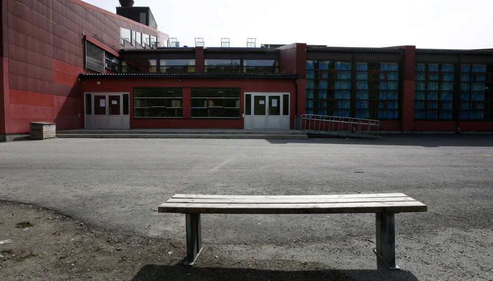 SJUKT: Det er mange som er syke på Flatåsen skole om dagen. Her fra da det var streik på skolen i 2008. Arkivfoto: Gorm Kallestad / NTB scanpix.